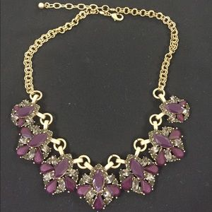 Purple & gold statement necklace